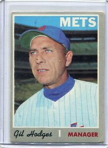 Details About 1970 Topps Baseball Card Gil Hodges Manager New York Mets Vg Ex 394