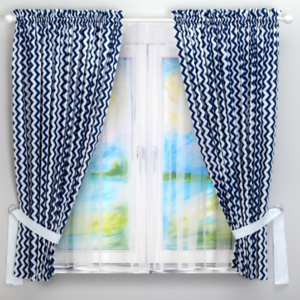 Détails sur 2pc Bébé Chambre à Coucher Rideaux Enfants Chambre Bleu Marine  Chevron garçon 2 panneaux en coton- afficher le titre d\'origine