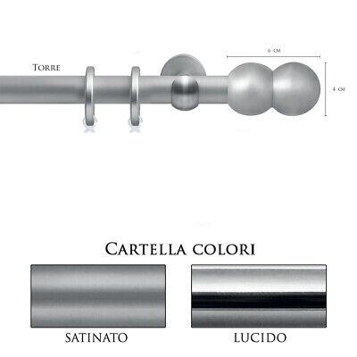 Scorritenda Bastone Per Tenda Alluminio Strappo Corda Con Anelli Traverso Vami