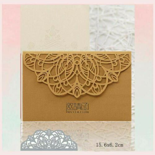 Metal Cutting Dies Flower Vine Lace Stencil For DIY Embossing Scrapbooking Cards