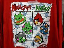 Boy XXL 18, Christmas ANGRY BIRD Red shirt, Naughty or Angry, long sleeve