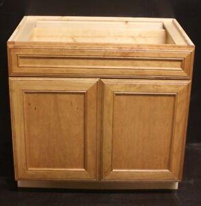 "Kraftmad Honey Spice Cherry Kitchen Base Cabinet 36"" Could ..."