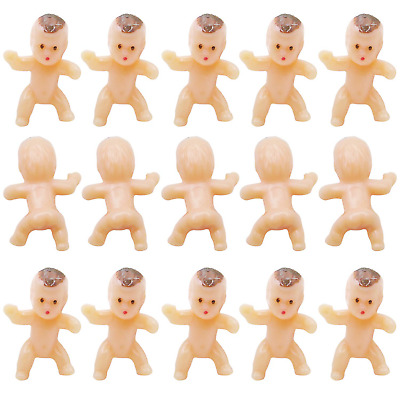 50 in 1 Mini Newborn Baby Doll Toy Baby Shower Decor Party Bag Filler Pink