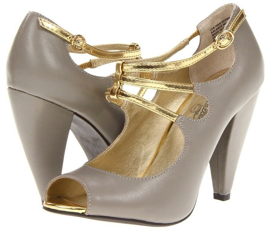 Seychelles Heart Grows Fonder Retro Peep Toe Strappy Mary Jane Pumps Taille 8.5