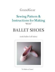 Sewing-pattern-for-real-Ballet-shoes-with-full-soles-with-instructions