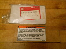 Honda NOS TRX300, 1992-93, Rear Carrier Label, # 87512-HC4-900   S-140