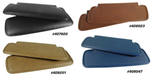 Pair New 1969-1976 Corvette Sunvisors with Hardware Any Factory Color