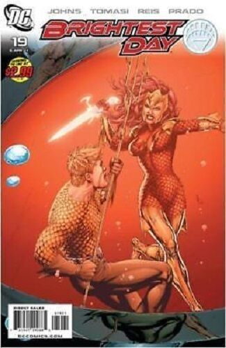 1:10 variant BRIGHTEST DAY #19 AQUAMAN JLA DC COMIC 1st print SUPERMAN