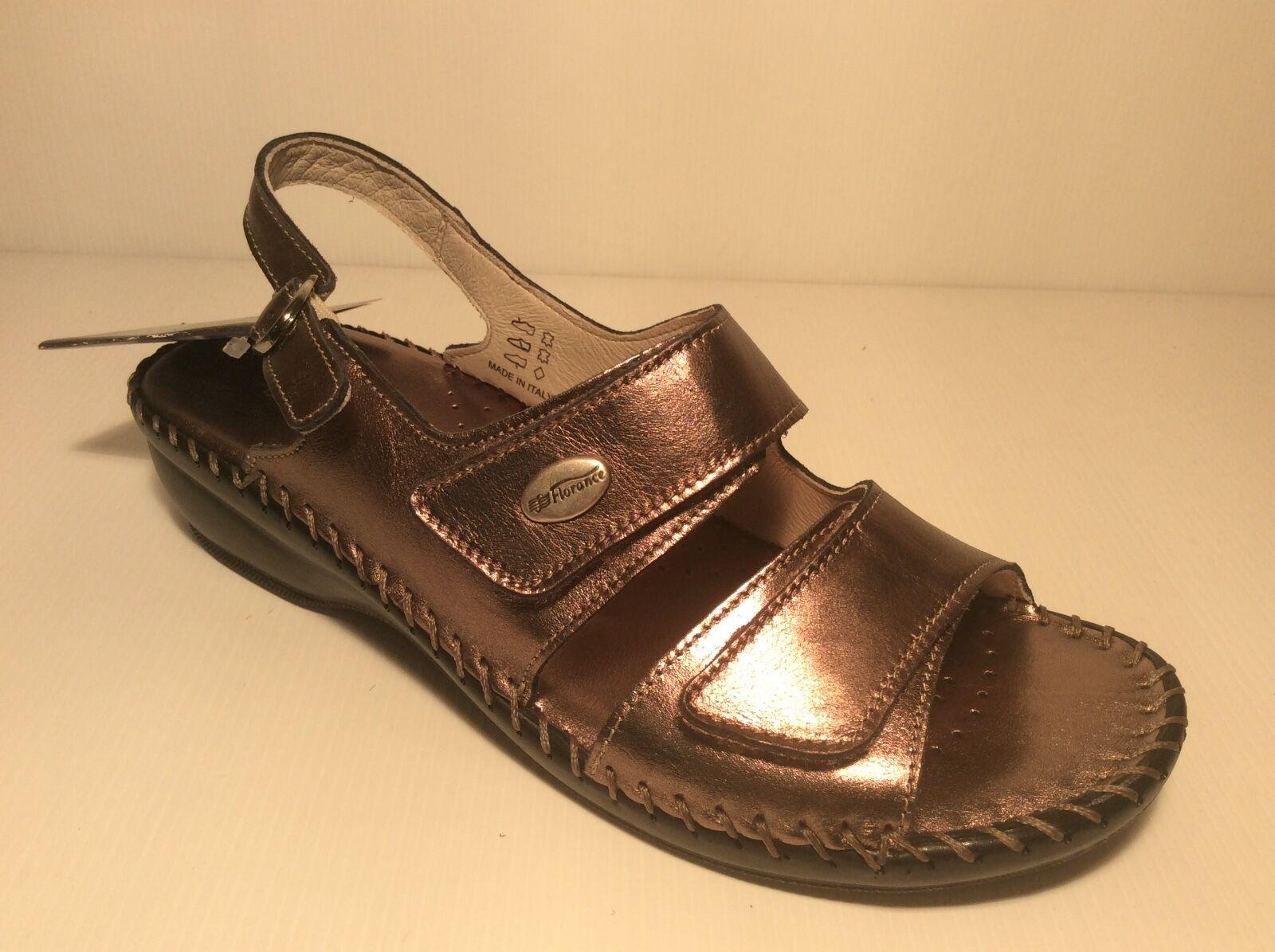 Florance 22597 Col Plomb chaussures Femme Sandales en Cuir Bretelles Confort