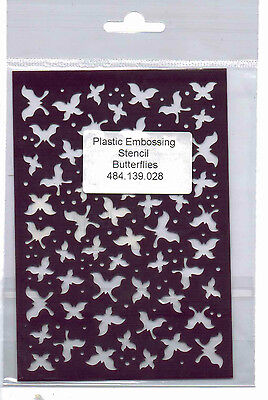 Plastic/PVC/Embossing/Stencil/Butterfly/Background/484.139.028