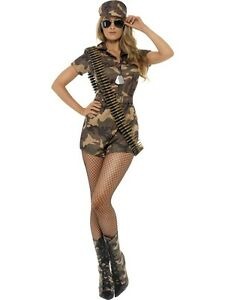 Ladies-Sexy-Army-Costume-Fancy-Dress-Costume-All-Sizes