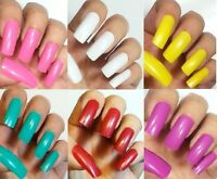 Choose 5 Colors 100pc False Nails Long Length Square Glue On Full Cover Tips Usa