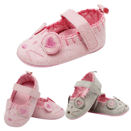 Newborn Baby Girl Bow Antislip Cotton Christening Pram Shoes Soft Sole Sneaker