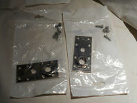 3 Sets New, Invensys Control, Metal Bracket W /round Piece And Screw