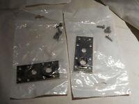 3 Sets New, Invensys Control, Metal Bracket W /round Piece And Screw