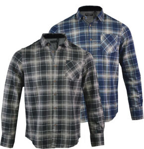 Mens-Flannel-Checkered-Lumberjack-Shirt-Long-Sleeved-Casual-S-XL