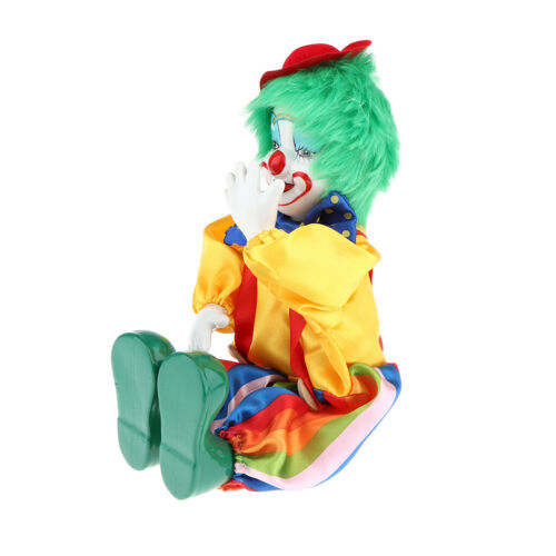 E Vintage Porcelain Hanging Feet Clown Doll Harlequin Doll Circus Prop