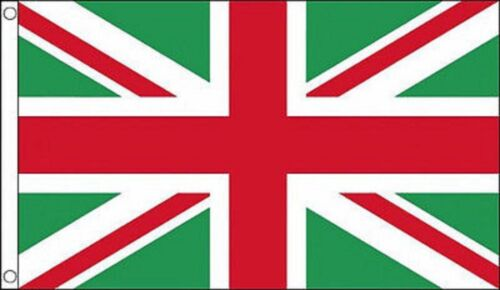 Green and White 5/'x3/' Flag Union Jack Red