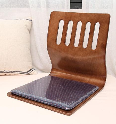 Floor Sitting Chair Wood Cushion Japanese Tatami Chair Zaisu Chair Oak color