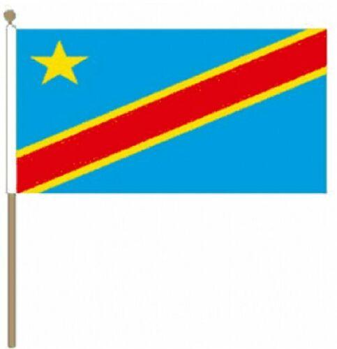 "Hand Waving Flag Congo DR 2006 9/"" x 6/"""