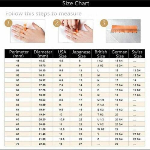 Luxury 925 Silver Wedding Rings Women Jewelry White Sapphire Rings Size 6-10