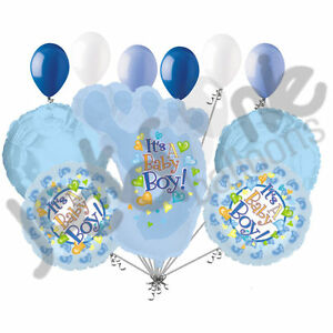Image Is Loading 11 Pc Its A Baby Boy Foot Balloon