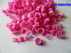 20 Pcs 5 mm Red Bird Ring Leg Bands Parrot Finch Canary Grouped