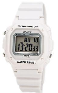 Casio-Men-039-s-Gray-Dial-White-Resin-Watch-F108WHC-7B
