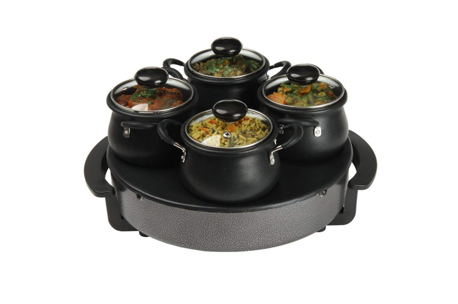 Radiateur électrique & buffet server – Plaque Chaude réchauffement Plateau Food Hot 4