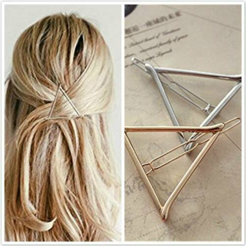 Bridal Gold Hollow Out Geometric Metal Hair Clamps Clips Hairpin Slide Clip DMF
