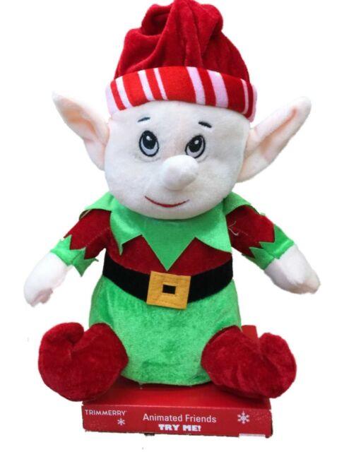 Musical Animated Singing Christmas Elf Stuffed Animal Plush Ebay
