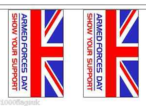 Armed Forces Jour Bruant De Drapeau - 9m De Long Avec 30 Drapeaux Ndf0jdta-08003747-122312914