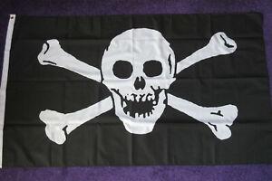 FLAGGE PIRAT REPUBLIK ROTE 150x90cm fla PIRATEN TOTENKOPF FAHNE  90 x 150 cm