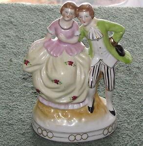 Vintage-Maruyama-Porcelain-Figurine-Victorian-Couple-Occupied-Japan
