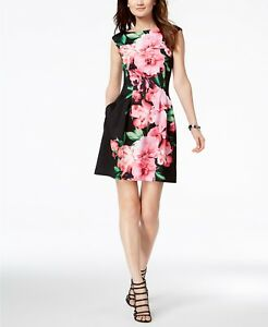 New Vince Camuto Floral Printed Cap Sleeve Fit Amp Flare