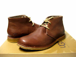 Image is loading UGG-LEIGTON-MEN-BOOTS-LEATHER-BRITISH-TAN-US-