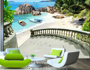 Image Is Loading Private Summer Beach Garden Full Wall Mural