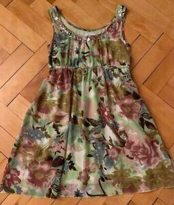 Tolles Kleid 38 M Aniston Damen Festlich Bunt Sommerkleid Tragerkleid Chiffon Ebay