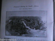 Diamond Mining Griqualand Kimberley De Beers South Africa Antique Article 1896