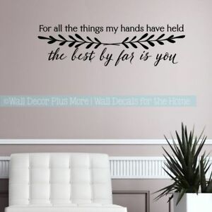 Details about Master Bedroom Decor Love Decal Quotes Best By Far Is You  Vinyl Art Wall Sticker