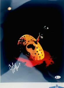 TED-WHITE-SIGNED-11x14-METALLIC-PHOTO-JASON-VOORHEES-FRIDAY-THE-13TH-BAS-WA32639