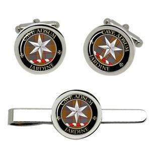 Jardine-Scottish-Clan-Cufflinks-and-Tie-Clip-Set