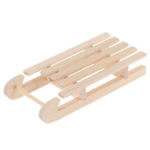 1-12-Dollhouse-Miniature-Mini-Wooden-Christmas-Sleigh-Model-DIY-Access-uW