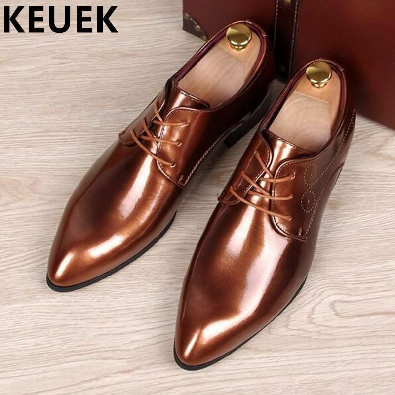i nuovi stili più caldi Spring Autumn Uomo Oxfords Oxfords Oxfords scarpe Pointed toe Fashion business casual scarpe Cow Sp  vendita outlet