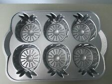 Nordic Ware Pineapple Upside Down Mini Cake Pan Mold Cast Aluminum Never Used