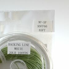 FLY LINE 5wt WF5F Weight Forward Floating tip LOOP Free 20 lbs Backng Moss Green