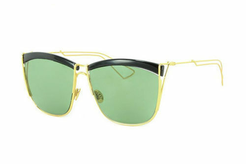 da2379ada07 Authentic Christian Dior so Electric Sunglasses My2 Black Yellow Gold DJ  Green