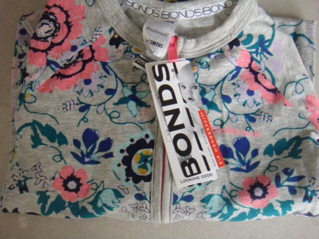 BONDS ZIPPY WONDERSUIT GYPSET GARDEN BNWT SIZE 0