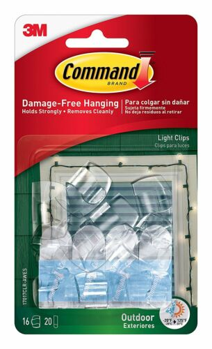 Command Haken Dekoration Clips selbstklebend Streifen Wandbehang Lichterkette