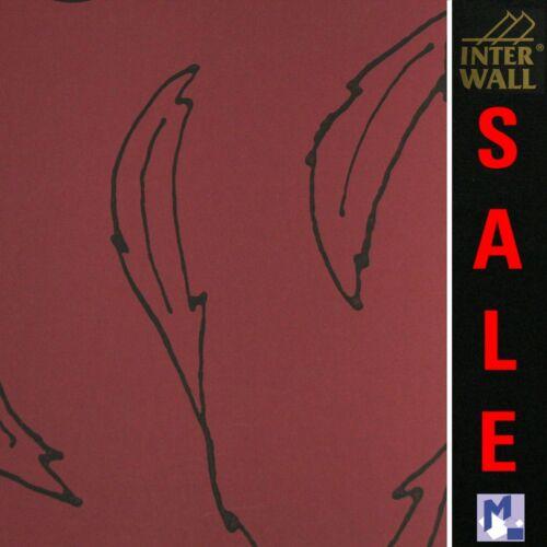 rapidement textile rrp € 44,50 Soldes InterWall 91311 rouge toison papier peint